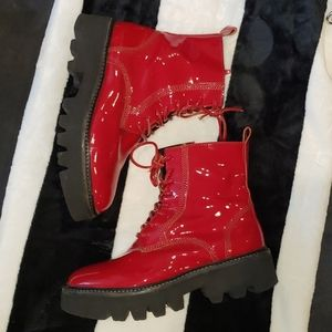 Jeffrey Campbell Patent Leather Boots